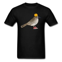 men t shirt bird UK - 2018 Trendy Bird Cartoon Tee Shirt Custom Cotton T-shirt For Men Father's Day Gift Tops Short Sleeve Free Shipping