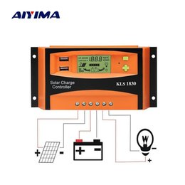 $enCountryForm.capitalKeyWord UK - Cells AIYIMA PWM 12V 24V 30A Solar Controller LCD Function Dual USB 5VDC Output Solar cells Panels Battery Charge Regulator