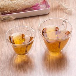 $enCountryForm.capitalKeyWord Australia - 240 180ml Heart Love Shaped Double Wall Layer Transparent Glass Tea Cup Lover Coffee Mug Gift lin3958