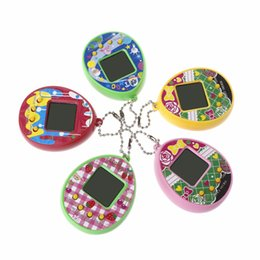 Wholesale Virtual Digital Pet Egg LCD Pet Egg Handheld Electronic Game Machine Toy With Keychain N50763