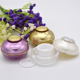 Snail Face Mask Australia - New Empty Acrylic Cream Jar 5G 10G Cosmetic Make Up Face Snail Cream Eyes Serum Mask Nail Polish Containers Wholesale 100pcs lot