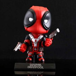 Discount deadpool figures - X-men Deadpool Figure Q Version PVC Action Figure Toy Shake Head Dolls Juguetes Model with Base 13cm
