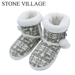 $enCountryForm.capitalKeyWord UK - 2018 New Knit Wool Soft Warm Winter Plush Slippers Soft Mute Home Slippers Cute Ball Women Slippers High Quality Indoor Shoes