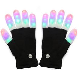 Детские светодиодные перчатки с подсветкой для пальцев Красочные мигающие новинки для детей на Распродаже