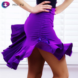 Discount evening women costume - MEI YU GB047 Latin Dance Skirt Rumba Cha Cha Ballroom Costume Women Lady Adult Dancewear Evening Party Dress Tight Skirt