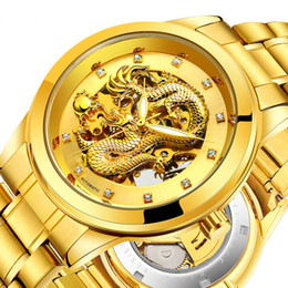 $enCountryForm.capitalKeyWord Australia - Gold Mechanical Wristwatch for Men Skeleton Tourbillon Automatic Watch Steel Waterproof Business Male Clock Hodinky Reloj Hombre