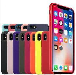 Híbrido gel de borracha líquido silicone case para iphone xs mas xr x 8 7 plus clássico bumper à prova de choque capa para apple iphone 2018 venda quente 1 pcs venda por atacado
