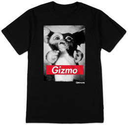 pop tees Australia - Fashion Mens Casual Gizmo Printed Graphic Cotton T-Shirt Black Printed T Shirt 2018 Fashion Brand Top Tee Pop Cotton Man Tee