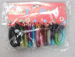 $enCountryForm.capitalKeyWord Australia - Spring Key Chain Stretchable Spiral String Multicolour Plastic Strap Lanyard