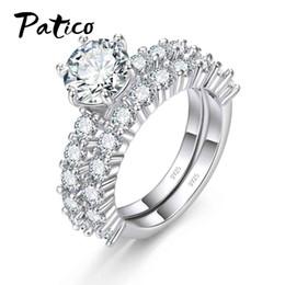 Verlobungsringe Schmuck & Zubehör Utimtree Elegant Wedding Ring Set Sterling Silver 925 Jewelry Fashion Cz Zircon Stone Engagement Proposal Rings Sets For Women