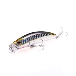 deep diving lures UK - Deep Diving Fishing Lures 10g   80mm Lifelike Wobblers Crankbait with 8# Hooks Popper Y18100906