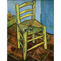$enCountryForm.capitalKeyWord NZ - Hand painted canvas art Vincent Van Gogh Paintings Chair with Pipe for wall decor