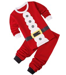 Boys Santa Top Canada - New Baby Christmas Clothes Sets Santa Claus Suit Bebes Brand Clothing Set Tops+Pant 2pcs Boys Christmas Costume Kids Clothes