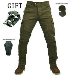 59db86b6265 Free Shipping 2016 volero MOTORPOOL jes-6 green jeans Leisure motorcycle  jeans pants of locomotive riding a motorcycle pants