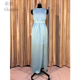 3b104678c1f Ghands Cheap A-line Satin Chiffon Bateau Elegant Sleeveless Ankle-Length  Wedding Guest Plus Formal Gowns Bridesmaid Dresses Customize Color