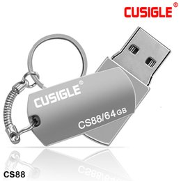 Flash Memory Drive 128 Gb NZ - For CUSIGLE CS88 Steel Disk Memory Real 16GB 32GB 64GB 128GB 256GB Swivel USB Flash Drive And Metal Rotary With Package