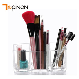 tool box makeup storage Australia - Acrylic Makeup Organizer Cosmetic Holder Brush and Accessory Jewelry Organizer Makeup Tools Storage Box Cosmetics Container