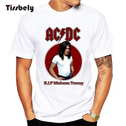 Cool Graphic Tees NZ - Tissbely Men's T-Shirts ACDC RLP Maloom Young Graphic Printed Tee Shirt New Style Short Sleeve Round Neck Cool Tops Fashion