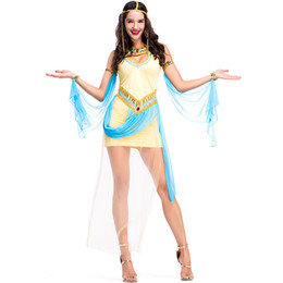 2018 New Egyptian Goddess Costumes Sexy Yellow Women Dresses Cosplay Halloween Costume Party Fancy Ball Clothing Hot Selling  sc 1 st  DHgate.com & Shop Egypt Clothes Clothing Costume UK | Egypt Clothes Clothing ...