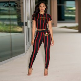 55eb5d954f64 Two piece romper suiTs online shopping - Stripe casual women jumpsuit romper  Printing Elastic two piece