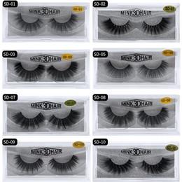 Longest eyeLashes thick online shopping - 20style d Mink Hair Fake Eyelash Thick real mink HAIR false eyelashes natural Extension fake Eyelashes DHL