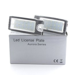 Volvo License Plates NZ - 2pcs White LED License Number Plate Light Bulb For Volvo S80 99-06 V70 XC70 S60 XC90 DXY88 license plate lamp