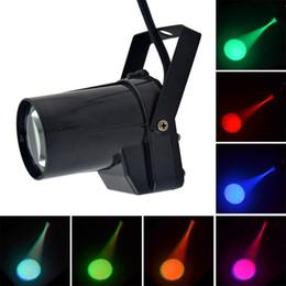 $enCountryForm.capitalKeyWord Australia - 5W Mini LED Pinspot Spotlight Effect Stage Light RGBWYP 6 Color Beam lighting for Mirror Balls Bar ktv DJ Disco show