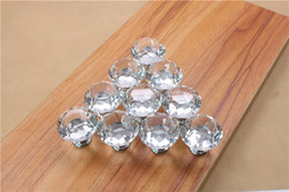 $enCountryForm.capitalKeyWord Australia - Europe Fashion Colorful 30mm Crystal Glass Diamond Furniture Handle Drawer Single Hole Circular Alloy Kitchen Handles Cabinets Pulls