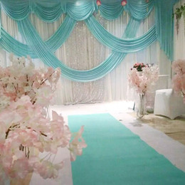 Grey backdrops online shopping - 3 M Wide Designs Wedding Stylist Swags For Backdrop Party Curtain Celebration Stage backdrop drapes Wedding performance show backdrop