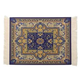 Carpeting Tools NZ - Vintage Persian Style Woven Rug Mouse Pad Carpet Mouse Mat Office Tool Gift Mouse Mat Pad For Computer Gaming Bohemia