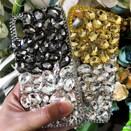 Iphone Diamond Back Australia - For Samsung Galaxy Note 9 8 5 4 4 3 2 Luxury Bling Diamond DIY Case Ultra Thin Soft Back Cover For iPhone X 8 Plus 7Plus 6 6S
