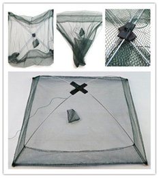 NyloN cage online shopping - Portable Fishing Cage Fishings Gear Fishing Tackle Bag Fishery Nylon Automatic Shield Net Hand Throw Gear Tool Zither hh dd