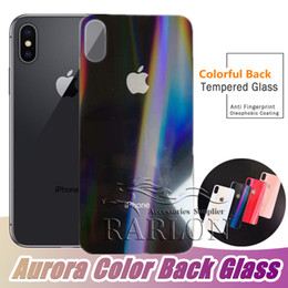 $enCountryForm.capitalKeyWord Australia - 2019 New Arrival Aurora Color Back Tempered Glass Screen Protector Film for iPhone XS MAX XR XR 8 7plus 6S 6 plus Without Packaging