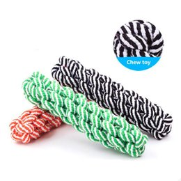 $enCountryForm.capitalKeyWord Australia - 20cm cotton Rope Dog Toys Pet Puppy Chew Braided Tug Toy For Pets Dogs Training Bait Toys for dog chew tooth cleanning supplies