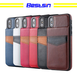 Wholesale Bestsin Mad horse material bracket belt card slot For Iphone X case caso del iphone luxury phone case