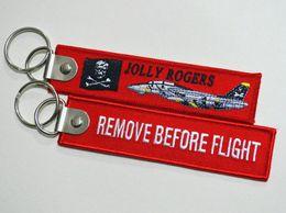 VF-103 Jolly Rogers Quitar Antes de Vuelo Tela Llavero Aviación Etiquetas Anillos 1PC Cosplay Llavero Regalo de Navidad