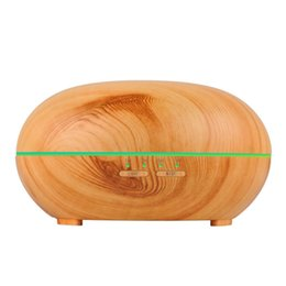 Spa oilS online shopping - 300ml Wood Grain LED Lights Essential Oil Ultrasonic Air Humidifier Electric Aroma Diffuser for Office Home Bedroom Living Room Yoga Spa