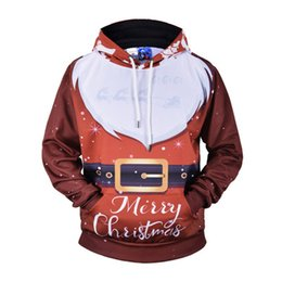 12d344b97c 2018 Sweaters Ugly Christmas Hooded Sweater Couple Matching Clothes Unisex  Outfits for Lovers Women Men Autumn Winter NEW
