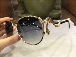 Adult AnimAls full online shopping - new fashion women designer sunglasses metal pilot animal frame Snake shaped legs with diamonds top quality protection eyewear