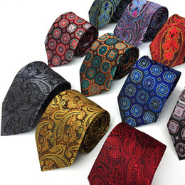 Skinny tie paiSley online shopping - Mantieqingway Polyester Silk Striped Paisley Neck Tie cm Skinny Neckties Wedding Business Ties for Men Gravatas Corbatas Gift