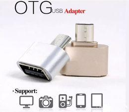 Vente en gros OTG Micro USB Adaptateur Mini USB vers USB 2.0 OTG Convertisseur Pour Samsung Téléphones Android Huawei Tablets HTC Sony LG