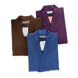 a3851edd51e8 Thicken 100% cotton Japan kimono men pajamas sets Spring short-sleeve sleep  lounge Couple robe sets male sleepwear pyjamas