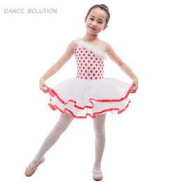 $enCountryForm.capitalKeyWord Australia - Red dot spandex leotard with white tutu stage costume for kids ballet dress dance tutus 15701