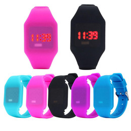 Silicone wriSt womenS watcheS online shopping - Perfect Gift Mens Womens Silicone LED Watch Sports Bracelet Digital Wrist WatchBlue Levert Dropship Mar01