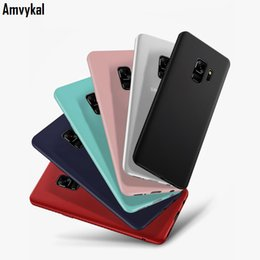 tpu clear ultra thin iphone UK - Amvykal Ultra-thin Soft TPU Silicone Matte Phone Cases For Samsung S8 S9 S10 plus S20 Ultra S10e Note8 9 M10 M20 J4 Cover