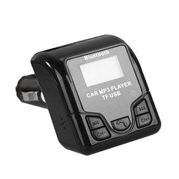 display tuner 2018 - QSS-50 Universal Bluetooth Handsfree Wireless Car MP3 Audio Player FM Modulator with USB Charger LCD Display cheap displ