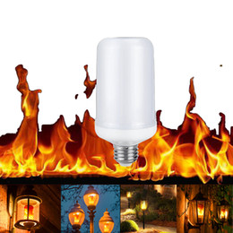 Chinese  E27 8W Flame Effect LED Corn light Bulb Lamp Fire Burning Flicker Replace Gas Lantern Christmas Halloween Decoration manufacturers