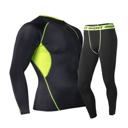 Women mens underWear online shopping - Mens Thermal Underwear Set Women Fast Dry Technology Surface Elastic Force Long Johns Suit Compression lucky john For Men