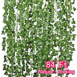 Fake vine Foliage online shopping - Artificial Hanging Plants Wisteria Vine Garland Ivy Flower Fake Leaf Silk Leaves Greenery PACK for Wedding Kitchen Wall Garden Foliage Ho