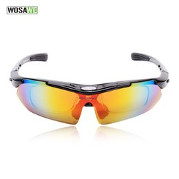 $enCountryForm.capitalKeyWord NZ - WOSAWE Professional Black Cycling Glasses Racing Motorcycle Sports Safety Sun Glasses Bike Sunglasses Bicycle Goggles 5lenses